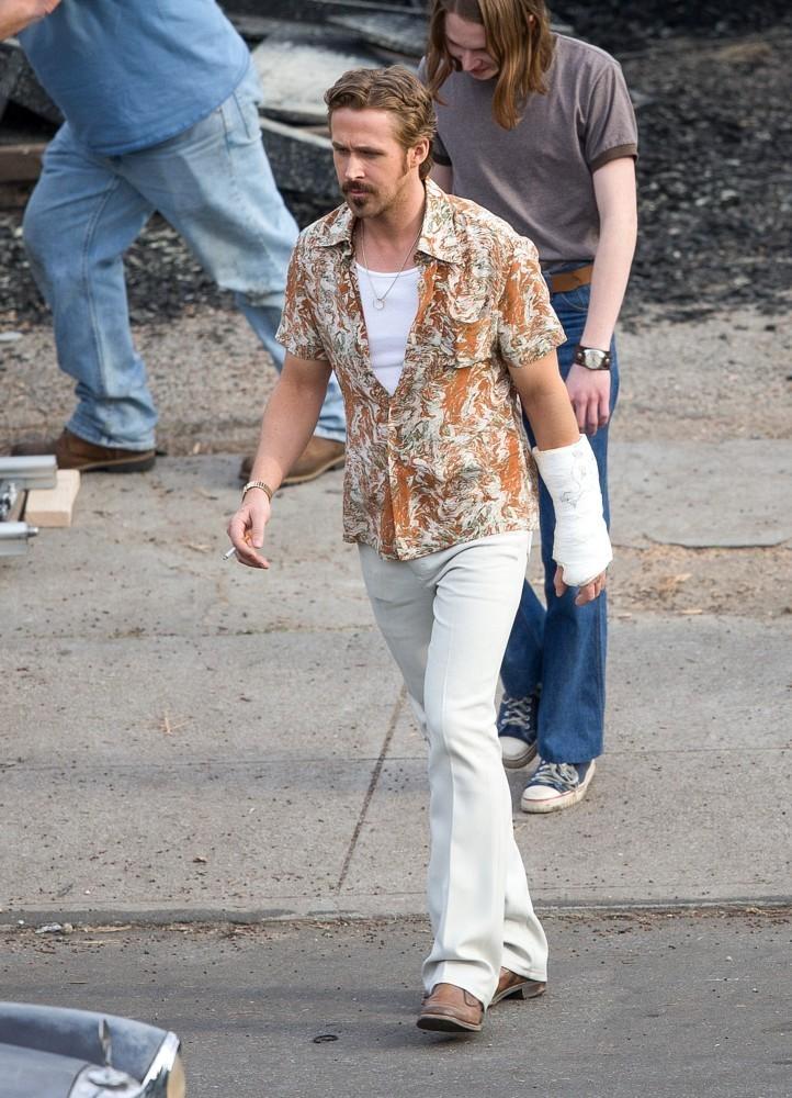 The Nice Guys - Ryan Gosling sul set