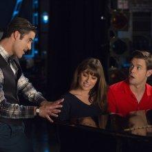 Glee: Darren Criss, Lea Michele e Chord Overstreet in The Hurt Locker, Part 1