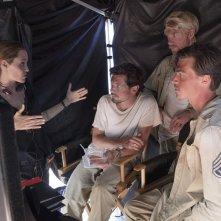 Unbroken: Angelina Jolie con Jack O'Connell, Domhnall Gleeson e Finn Wittrock sul set del film