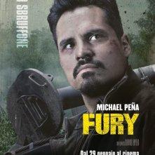Fury: il character poster dedicato a Michael Peña, Lo sbruffone