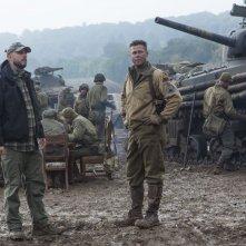 Fury: Brad Pitt con David Ayer sul set del film