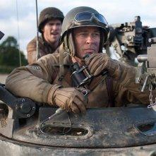 Fury: Brad Pitt in una scena del film bellico