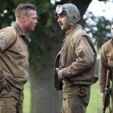 Fury: Brad Pitt con Shia LaBouef in un'immagine del film