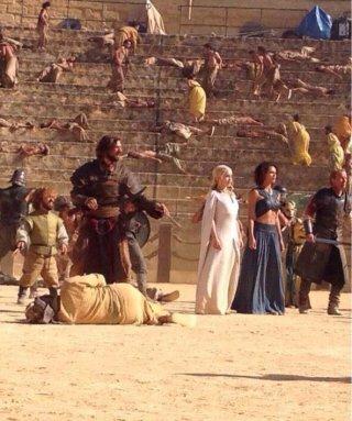 Il trono di spade: un'immagine scattata sul set della quinta stagione