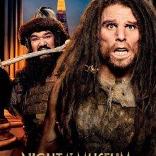 Notte al museo - Il segreto del faraone: Patrick Gallagher e Ben Stiller nel character poster dedicato a Lè e Attila