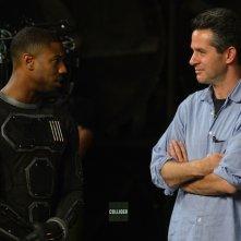 Fantastic 4 - I Fantastici Quattro: Michael B. Jordan sul set con lo sceneggiatore Simon Kinberg