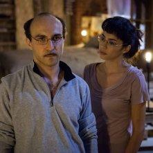 Italiano medio: Maccio Capatonda con Lavinia Longhi in una scena del film