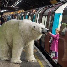 Fortitude - l'orso meccanico per promuovere la serie a Londra