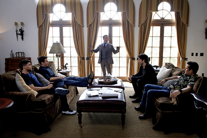 Entourage: Jeremy Piven in riunione con i suoi collaboratori