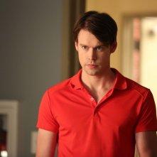 Glee: l'attore Chord Overstreet in una scena dell'episodio The Hurt Locker, Part 2
