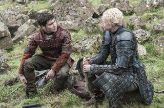 Il trono di spade: Daniel Portman e Gwendoline Christie, interpreti di Daniel Portman e Brienne of Tarth
