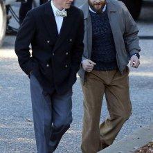 Steve Jobs: Michael Fassbender e Seth Rogen sul set