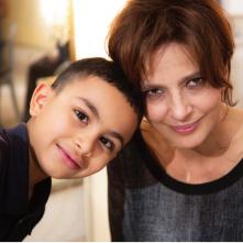 Con il sole negli occhi: Laura Morante e Amor Faidi in un'immagine promozionale