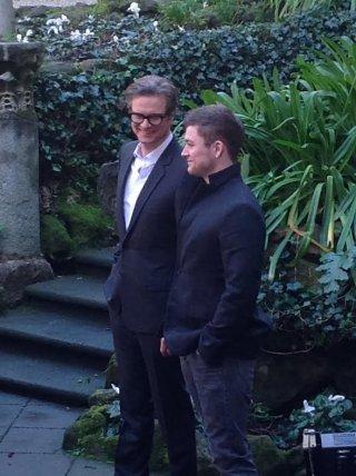Kinsgman: Secret Service: Colin Firth e Taron Egerton alla presentazione romana del film di Matthew Vaughn