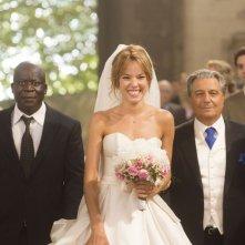 Non sposate le mie figlie!: Christian Clavier con Elodie Fontan e Pascal N'Zonzi in una scena del film