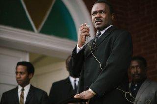 Selma - La strada per la libertà: David Oyelowo nei panni di Martin Luther King in una scena del film