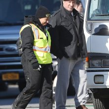 Creed: Sylvester Stallone durante un momento di pausa sul set