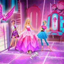 Barbie Super Principessa: una colorata immagine tratta dal film animato
