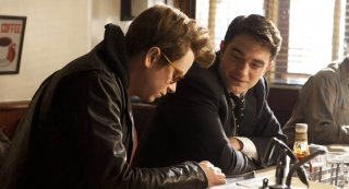 Life: Dane DeHaan insieme a Robert Pattinson e Anton Corbijn  in una scena del film