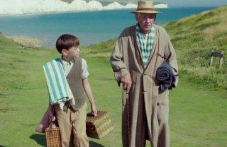 Mr. Holmes - Il mistero del caso irrisolto: Milo Parker insieme a Ian McKellen in una scena del film