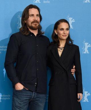 Knight of Cups: Christian Bale e Natalie Portman prima della conferenza stampa
