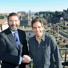 Ben Stiller con Ignazio Marino a Roma poco prima delle riprese di Zoolander 2