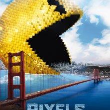 Pixels: il character poster italiano dell'attacco extra-terrestre di Pac-Man