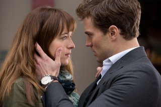 Jamie Dornan e Dakota Johnson in Cinquanta sfumature di grigio