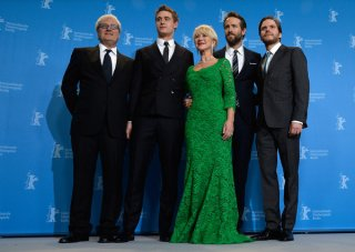 Woman in Gold: Helen Mirren con Ryan Reynolds, Max Irons, Daniel Bruhl e il regista Simon Curtis