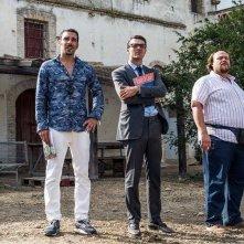 Noi e la Giulia: Edoardo Leo con Luca Argentero e Stefano Fresi in una scena del film
