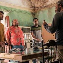 Noi e la Giulia: Edoardo Leo insieme a Claudio Amendola, Luca Argentero e Stefano Fresi in un'immagine del film