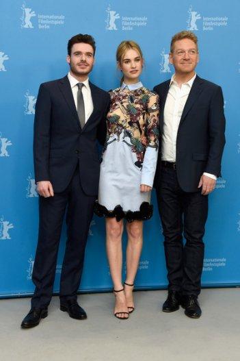 Cenerentola: il regista Kenneth Branagh, Lily James e Richard Madden