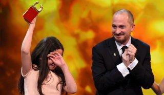 Berlino 2015: il Presidente Darren Aronofsky con la nipote di Jafar Panahi