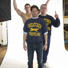 Foxcatcher - foto esclusiva Channing Tatum e Steve Carell con Bennett Miller