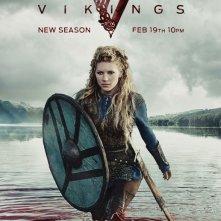 Vikings: Katheryn Winnick in un manifesto per la terza stagione