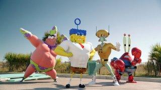 SpongeBob - Fuori dall'acqua: una scena tratta dal film d'animazione