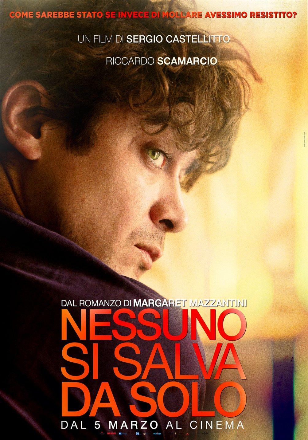 Nessuno si salva da solo - character poster esclusivo con Riccardo Scamarcio