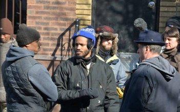 Creed: Sylvester Stallone e Michael B. Jordan con la troupe