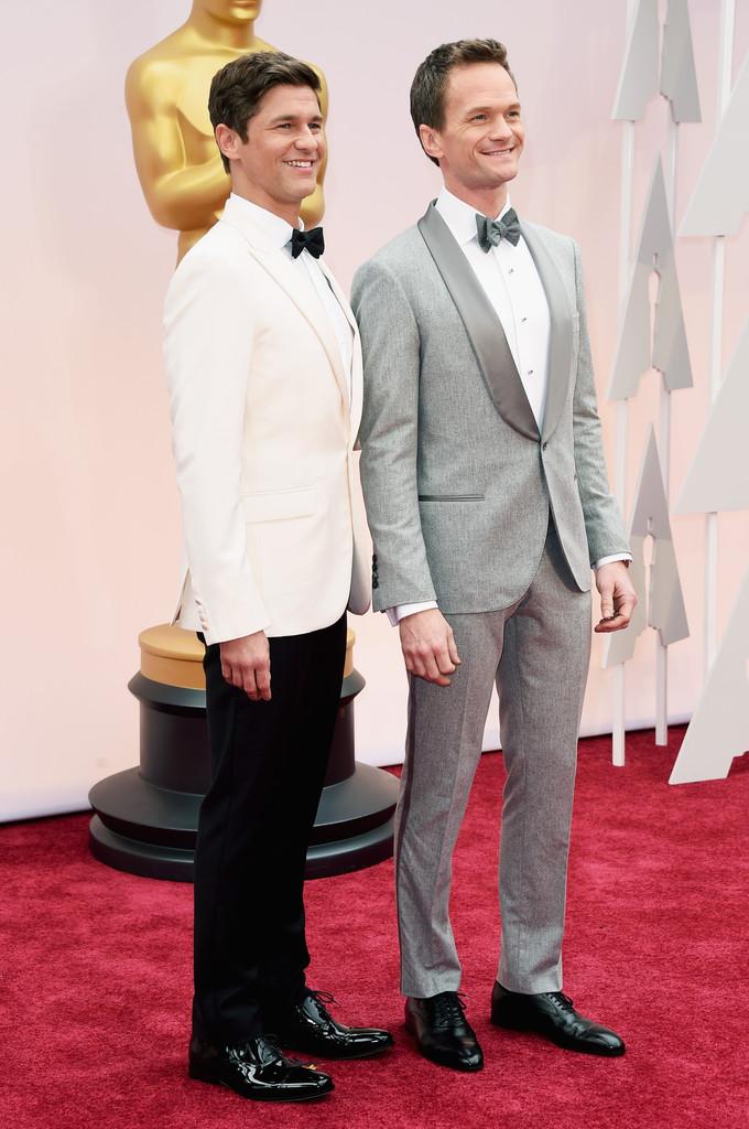Oscar 2015 - Neil Patrick Harris con suo marito David Burtka