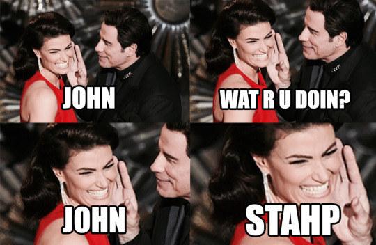 Oscar 2015: un fotomontaggio ironico dedicato a John Travolta e Idina Menzel