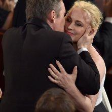 Patricia Arquette agli Oscar 2015 nel momento in cui è stata premiata per Boyhood
