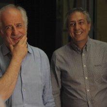 Senza Lucio: Mario Sesti e Toni Servillo in una scena del film