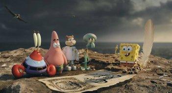 SpongeBob - Fuori dall'acqua: la simpatica spugna animata con i suoi amici in una scena del film