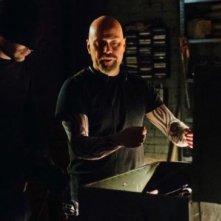 Daredevil: Charlie Cox e Vincent D'Onofrio in una scena della serie
