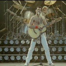 Queen Rock Montreal: Freddie Mercury in un'immagine del mitico concerto del 1981 a Montreal