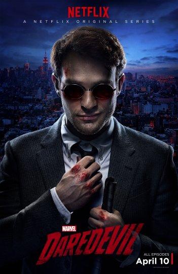 Daredevil: un poster della serie di Netflix con protagonista Charlie Cox