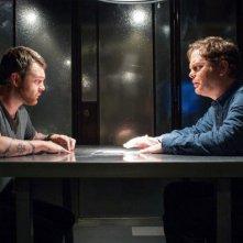 Backstrom: il detective Everett Backstrom (Rainn Wilson) durante un interrogatorio nell'episodio Bogeyman