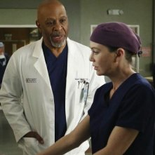 Grey's Anatomy: James Pickens Jr. ed Ellen Pompeo in una scena dell'episodio All I Could Do Was Cry