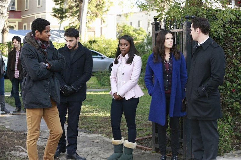 How To Get Away With Murder: Alfred Enoch, Jack Falahee, Aja Naomi King, Karla Souza e Matt McGorry in She's a Murderer