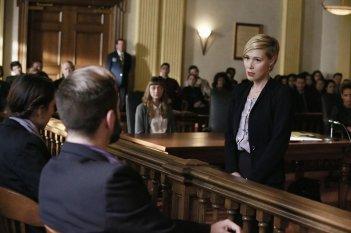 How To Get Away With Murder: l'attrice Liza Weil in una scena dell'episodio intitolato Mama's Here Now